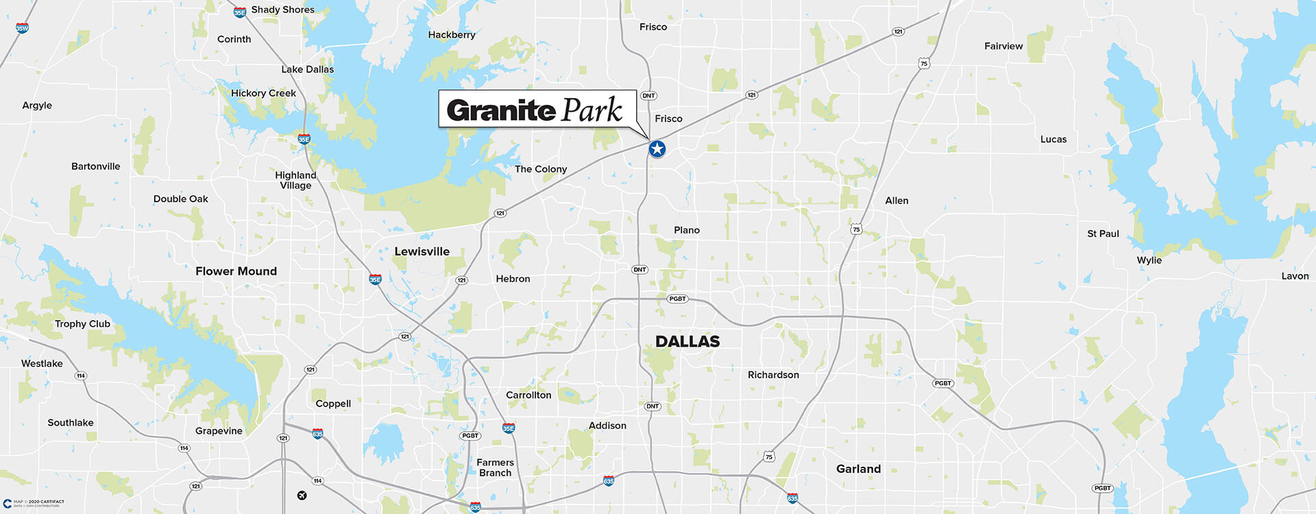 Granite Park Two location map
